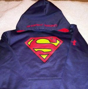 Boys under armour superman sweater
